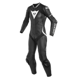 LAGUNA SECA 4 1PC PERF. LADY LEATHER SUIT BLACK/BLACK/WHITE- Professionnelles