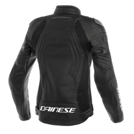 RACING 3 PERF. LADY LEATHER JACKET BLACK/BLACK/BLACK- Leder
