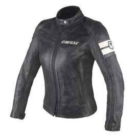 LOLA D1 LADY LEATHER JACKET BLACK/ICE