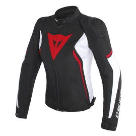 AVRO D2 TEX LADY JACKET BLACK/WHITE/RED