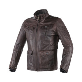 HARRISON JACKET PELLE DARK BROWN