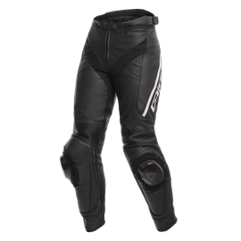 DELTA 3 LADY LEATHER PANTS BLACK/BLACK/WHITE