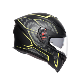 K-5 S E2205 MULTI - TORNADO BLACK/YELLOW FLUO - Full-face