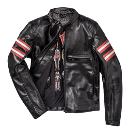 RAPIDA72 LEATHER JACKET BLACK