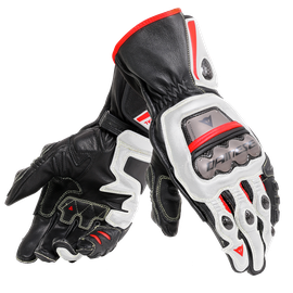 FULL METAL 6 GLOVES BLACK/WHITE/LAVA-RED- Leather