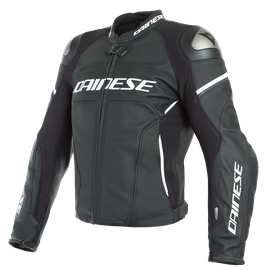 RACING 3 D-AIR PERF. LEATHER JACKET BLACK-MATT/BLACK-MATT/WHITE