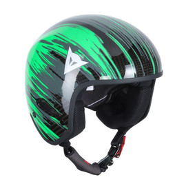 GT CARBON WC HELMET CARBON/FLUO-GREEN