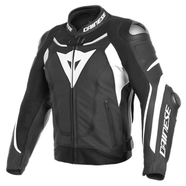 SUPER SPEED 3 PERF. LEATHER JACKET BLACK/WHITE/WHITE