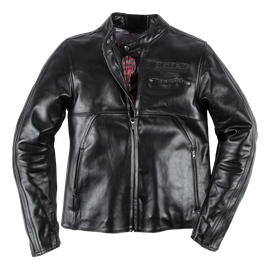 TOGA72 LEATHER JACKET BLACK