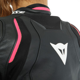 RACING 3 D-AIR LADY LEATHER JACKET BLACK/ANTHRACITE/FUCHSIA- D-air