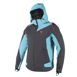 SKYWARD D-DRY® JACKET BLACK/BRIGHT-AQUA/FIRE-RED