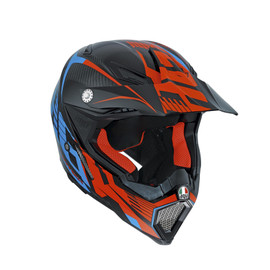 AX-8 CARBON AGV E2205 MULTI - CARBOTECH ORANGE/BLUE