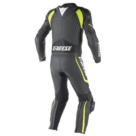 AVRO D1 2 PIECE SUIT BLACK/BLACK/FLUO-YELLOW