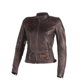 KEIRA LADY LEATHER JACKET DARK BROWN