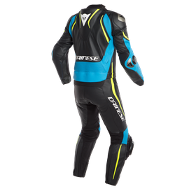 LAGUNA SECA 4 2PCS SUIT BLACK/FIRE-BLUE/FLUO-YELLOW- Deux Pieces