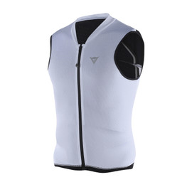 GILET MANIS 13 WHITE/RED-FLUO
