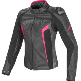 RACING D1 PERFORATED LADY LEATHER BLACK/ANTHRACITE/FLUO-FUCHSIA