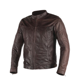 HESTON LEATHER JACKET DARK BROWN