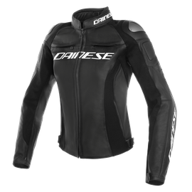 RACING 3 PERF. LADY LEATHER JACKET BLACK/BLACK/BLACK