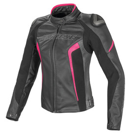 RACING D1 PELLE LADY BLACK/ANTHRACITE/FUCHSIA