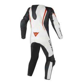 ASSEN 1 PC. PERF. SUIT WHITE/BLACK/RED-FLUO
