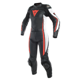 ASSEN 2 PCS LADY SUIT BLACK/WHITE/FLUO-RED- Divisibles