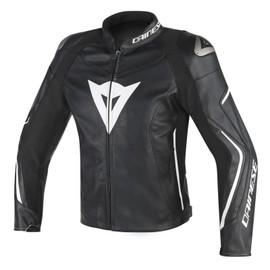 ASSEN LEATHER JACKET BLACK/BLACK/WHITE