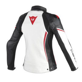 ASSEN LADY LEATHER WHITE/BLACK/RED-LAVA