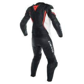 ASSEN 2 PCS SUIT BLACK/WHITE/FLUO-RED- Zweiteiler