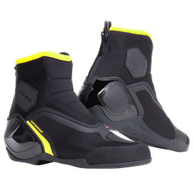 DINAMICA D-WP SHOES BLACK/FLUO-YELLOW- Motorbike