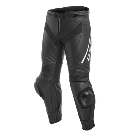 DELTA 3 SHORT/TALL LEATHER PANTS BLACK/BLACK/WHITE