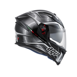K-5 AGV E2205 MULTI PLK - HURRICANE BLACK/GUNM./WHITE