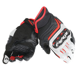 CARBON D1 SHORT GLOVES BLACK/WHITE/LAVA-RED