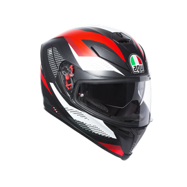 K-5 S AGV E2205 MULTI PLK - MARBLE MATT BLACK/WHITE/RED