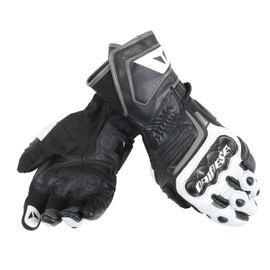 CARBON D1 LONG GLOVES BLACK/WHITE/ANTHRACITE- Leder