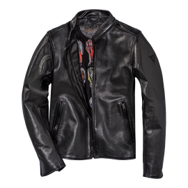 NERA72 PERF. LEATHER JACKET BLACK