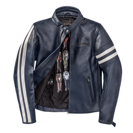 FRECCIA72 LEATHER JACKET BLUE/WHITE-S- Dainese72