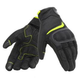 AIR MASTER GLOVES BLACK/FLUO-YELLOW- Textile