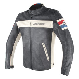 HF D1 LEATHER JACKET BLACK/ICE/RED/BLUE
