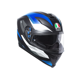 K-5 S AGV E2205 MULTI PLK - MARBLE MATT BLACK/WHITE/BLUE