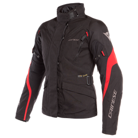 TEMPEST 2 D-DRY LADY JACKET BLACK/BLACK/TOUR-RED