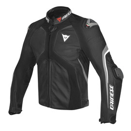 SUPER RIDER LEATHER JACKET BLACK/BLACK/ANTHRACITE