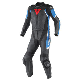 AVRO D1 2 PIECE SUIT BLACK/SKY-BLUE/WHITE