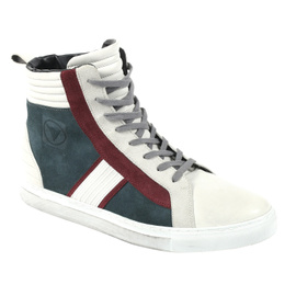 MABU SHOES QUING-GREY/QUING-WHITE/CINO-BURGUNDY- undefined