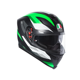 K-5 S AGV E2205 MULTI PLK - MARBLE MATT BLACK/WHITE/GREEN