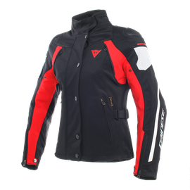 RAIN MASTER LADY D-DRY® JACKET BLACK/GLACIER-GRAY/RED
