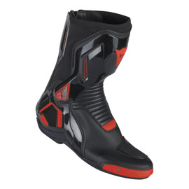 COURSE D1 OUT BOOTS BLACK/RED-FLUO- Leather