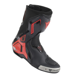 TORQUE D1 OUT BOOTS BLACK/FLUO-RED- Cuir
