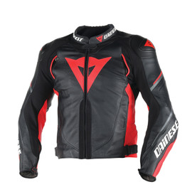 SUPER SPEED D1 LEATHER JACKET BLACK/RED/ANTHRACITE
