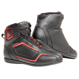 RAPTORS D-WP SHOES BLACK/BLACK/FLUO-RED- D-WP®